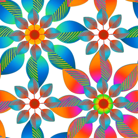 Funky Floral fabric by joanmclemore on Spoonflower - custom fabric
