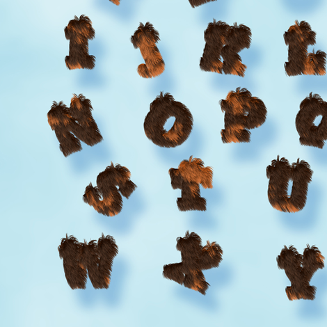Calico Fur Alphabet