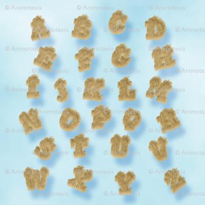 Puma Fur Alphabet