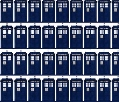 Doctor Who Tardis fabric by onethatranaway on Spoonflower - custom fabric