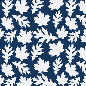 Falling leaves in Navy
