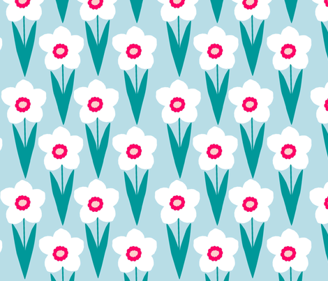 blue_daffodil fabric by slkanitz on Spoonflower - custom fabric