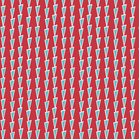This way - red fabric by lola_designs on Spoonflower - custom fabric