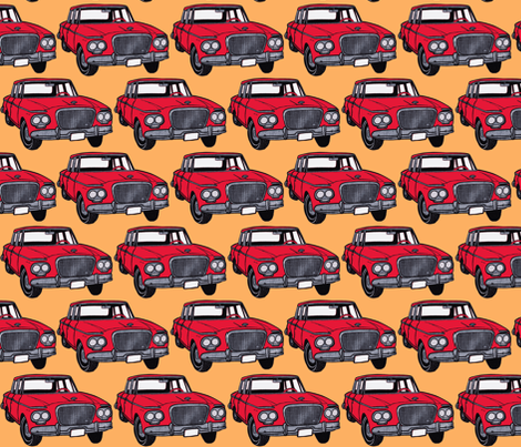 Whole Lotta red 1963 Studebaker Larks fabric by edsel2084 on Spoonflower - custom fabric