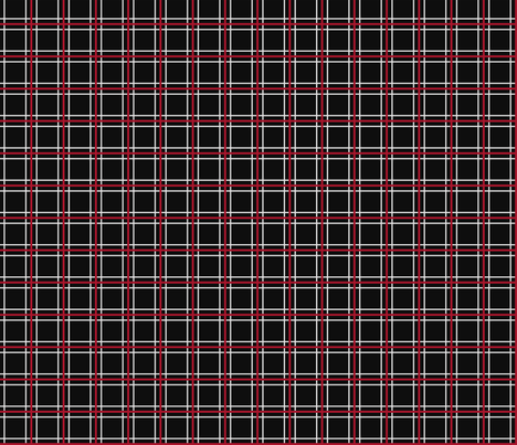 Persona 5 Uniform Black, Red, & White Plaid fabric by atashi on Spoonflower - custom fabric