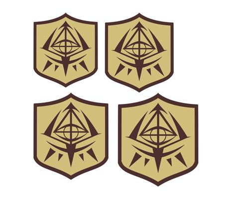 Aria the Scarlet Ammo School Emblem fabric by atashi on Spoonflower - custom fabric