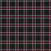 Persona 5 Shujin High School Uniform Off-Black, Red, & Off-White Plaid