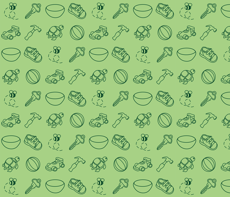 first words - green fabric by gbert on Spoonflower - custom fabric