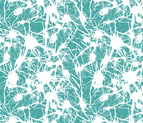 Branching out in Blue fabric by me-udesign on Spoonflower - custom fabric