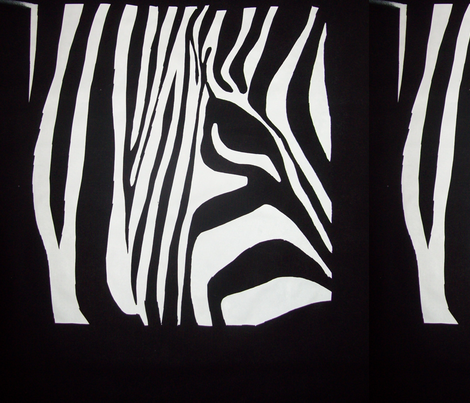 Zebra 2 fabric by blue_jacaranda on Spoonflower - custom fabric