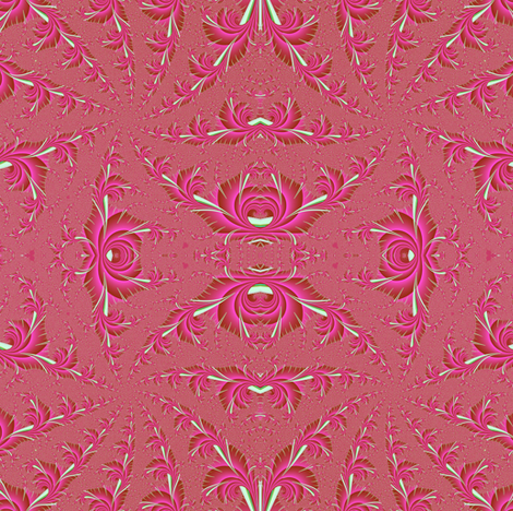 Blooming Spiral in Pink fabric by eclectic_house on Spoonflower - custom fabric