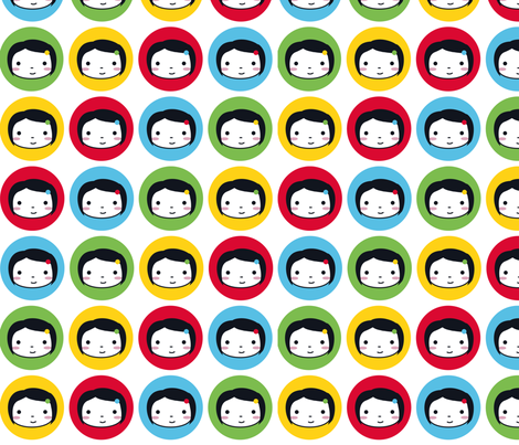 Polka Dot Girls - Multicolour fabric by marcelinesmith on Spoonflower - custom fabric