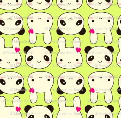 Tiny Bunny & Panda - Green