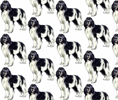 Standing Landseer fabric by dogdaze_ on Spoonflower - custom fabric