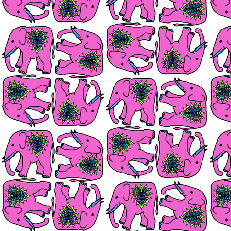 pink_elephants fabric by topfrog56 on Spoonflower - custom fabric