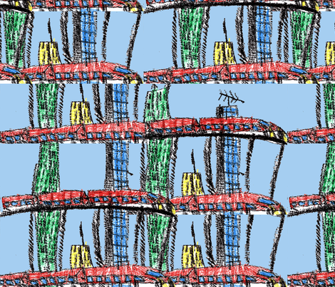 Train City fabric by elias on Spoonflower - custom fabric