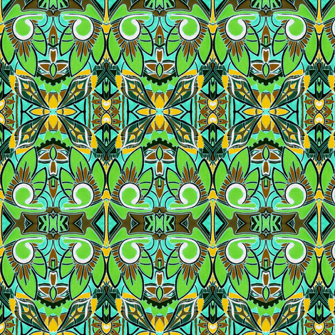 Tiki Time fabric by edsel2084 on Spoonflower - custom fabric