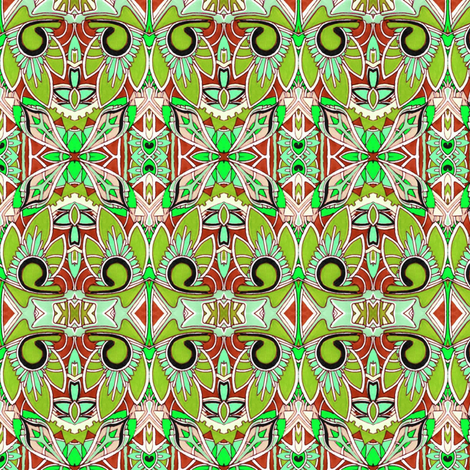 Palm Tiki fabric by edsel2084 on Spoonflower - custom fabric