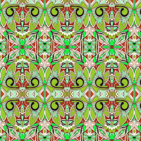 Palm Tiki fabric by edsel2084 on Spoonflower - custom fabric