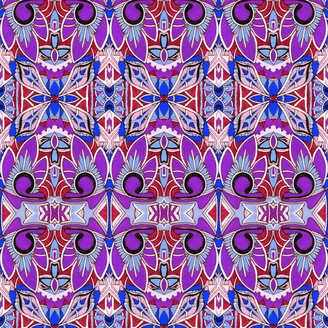 Purple Tiki Time fabric by edsel2084 on Spoonflower - custom fabric