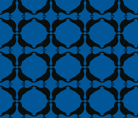 Pigeon Circles/B&B fabric by relative_of_otis on Spoonflower - custom fabric
