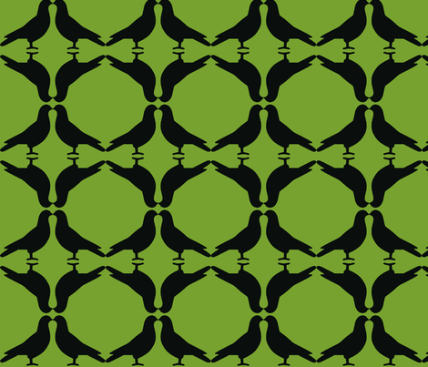Pigeon Circles-BkGn fabric by mbsmith on Spoonflower - custom fabric