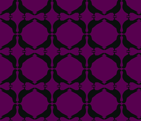 Pigeon Circles-BkP fabric by mbsmith on Spoonflower - custom fabric