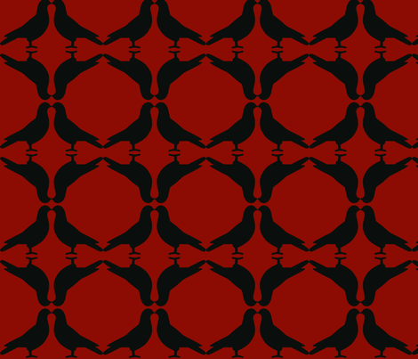 Pigeon Circles-BkR fabric by mbsmith on Spoonflower - custom fabric
