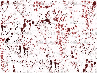 Red Ink Splatter