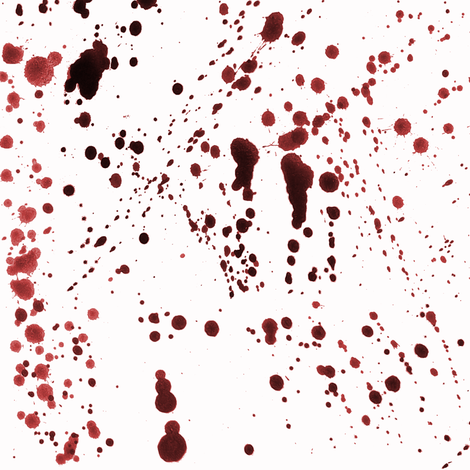 Red Ink Splatter fabric by pond_ripple on Spoonflower - custom fabric