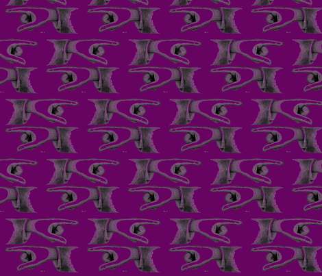 J'accuse!-purple fabric by relative_of_otis on Spoonflower - custom fabric