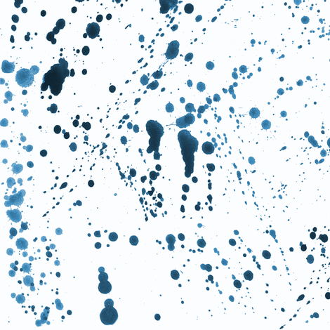 Blue Ink Splatter fabric by pond_ripple on Spoonflower - custom fabric