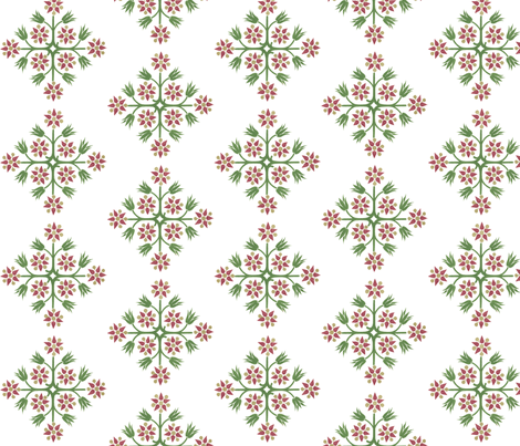 ArtNouveauFlower-W fabric by mbsmith on Spoonflower - custom fabric
