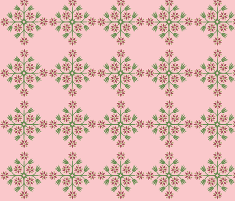 ArtNouveauFlower-Pk fabric by mbsmith on Spoonflower - custom fabric