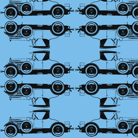 RoadsterBlues fabric by mbsmith on Spoonflower - custom fabric