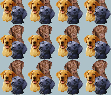 Labrador Retriever Three colors fabric by dogdaze_ on Spoonflower - custom fabric