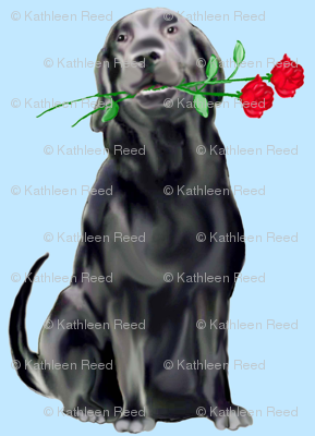 Black Lab And Roses