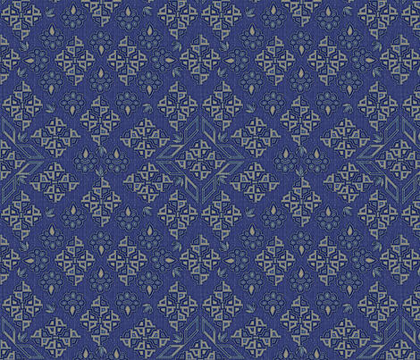 ©2011  Tribal - Delft fabric by glimmericks on Spoonflower - custom fabric