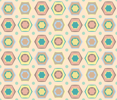 Hexagonia fabric by can-do-girl-fabric on Spoonflower - custom fabric