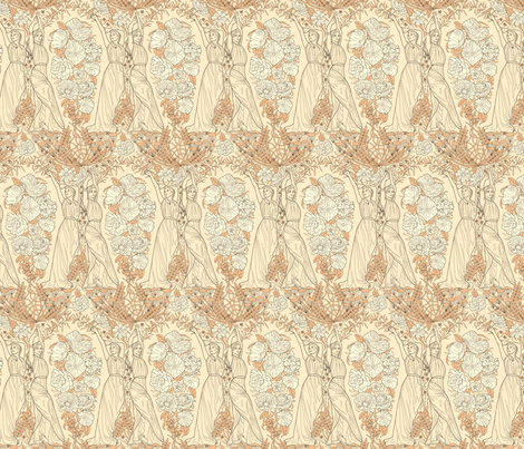 Roman Damask fabric by totallysevere on Spoonflower - custom fabric