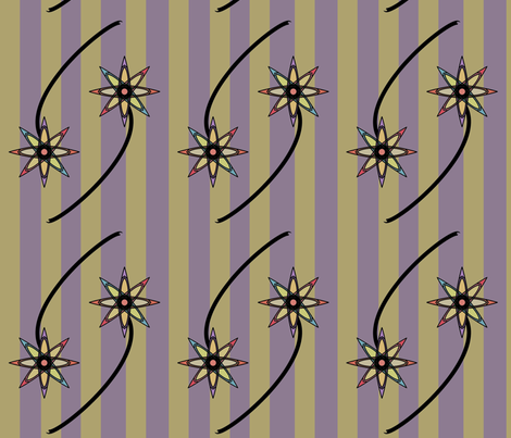 Two Striped Flowers fabric by david_kent_collections on Spoonflower - custom fabric