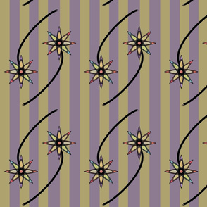 Two Striped Flowers