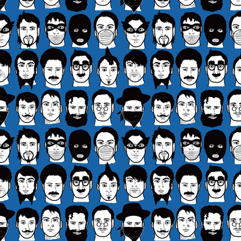 Beards, Bandits, Bigotes fabric by totallysevere on Spoonflower - custom fabric