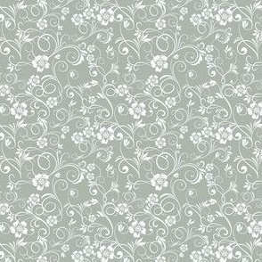 Swirly Flowers, grey