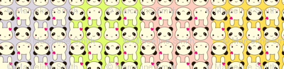 Tiny Bunny & Panda - Rainbow