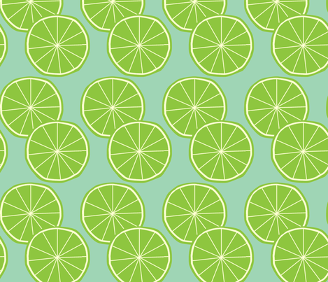 Limes fabric by slkanitz on Spoonflower - custom fabric