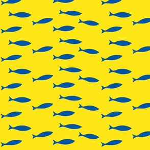 Minnows in yellow