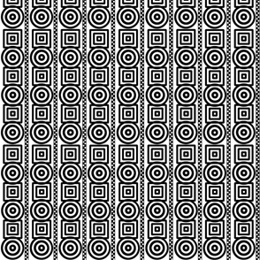 Dizzy Circles Quirky Squares dotted stripes