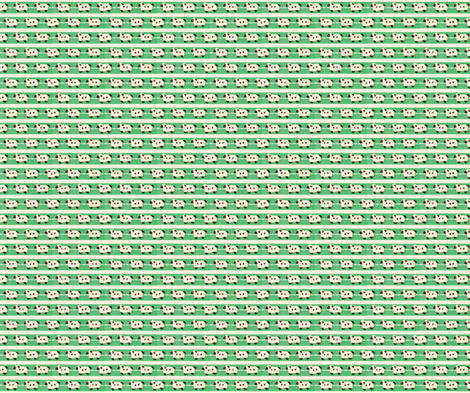 Sheep on Green Ribbons fabric by incomparable on Spoonflower - custom fabric