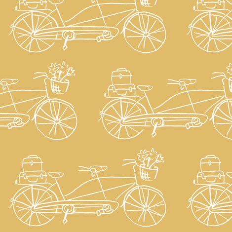 Vintage Traveler - Dijon fabric by pattysloniger on Spoonflower - custom fabric